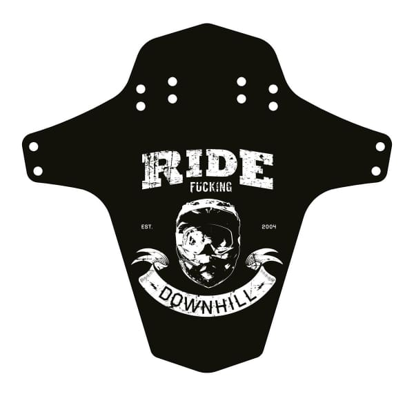 Reverse Mudfender, Ride F-Ing Downhill, Black/White