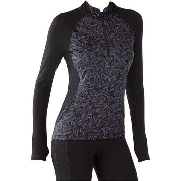 Smartwool Women's PhD Light Printed 1/2 Zip: Black