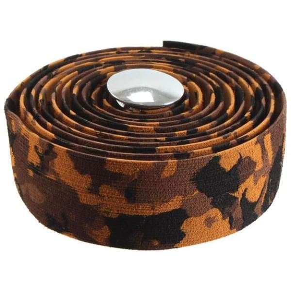 Soma Thick And Zesty Striated Bar Tape - Brown Camo - Bar Tape