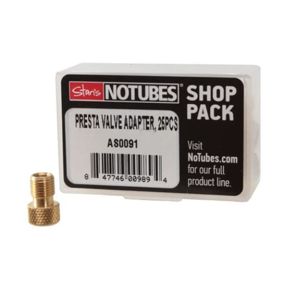 Stan's Presta Valve Adapter, Brass - 25/Box
