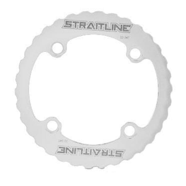 Straitline Serrated Bash Ring - 4x104mm / white / 32-34t - Chainrings & Guards