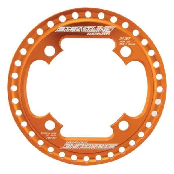 Straitline SG Bashrings - orange / 34-36t - Chainrings & Guards