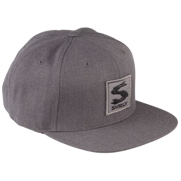 Surly Gray Area Snap Back Hat, Dark Heather Gray