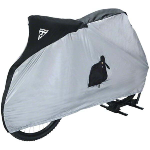 Topeak Bike Cover for 26 MTB Bikes: White/Black - Bike Protector