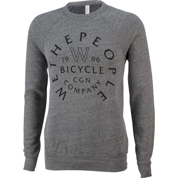 We The People W Shield Crew Neck Sweatshirt: Heather Gray