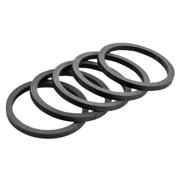 Wheels Carbon Fiber 1-1/8 Headset Spacers 5-pack - Matte Carbon | 2.5mm - Headset Spacers