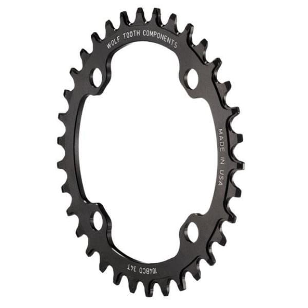 Wolf Tooth 64/104BCD Drop-Stop Chainring: Black - 30t | 4x104mm - Chainrings & Guards