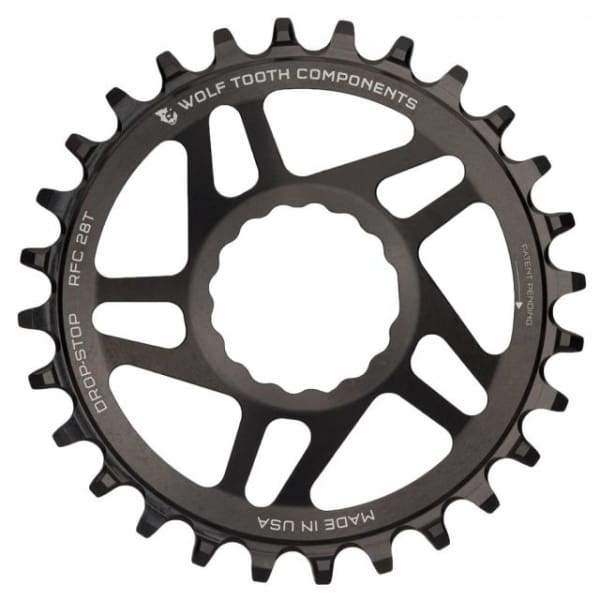 Wolf Tooth Cinch Direct Mount Drop-Stop Chainring: Black - 26t - Chainrings & Guards
