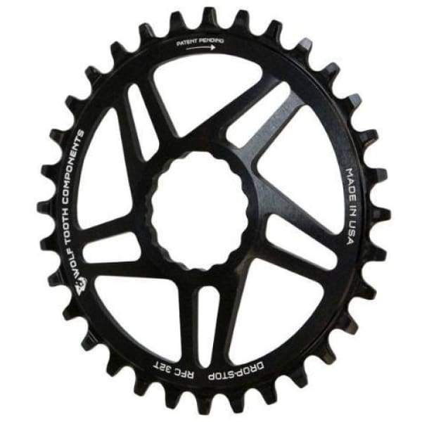 Wolf Tooth Cinch Direct Mount Drop-Stop Chainring: Black - 34t - Chainrings & Guards