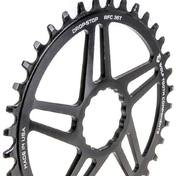 Wolf Tooth Cinch Direct Mount Drop-Stop Chainring: Black - 36t - Chainrings & Guards