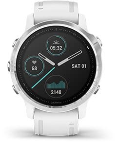 Garmin Fenix 6S Multisport GPS Smartwatch: Silver with Black Band