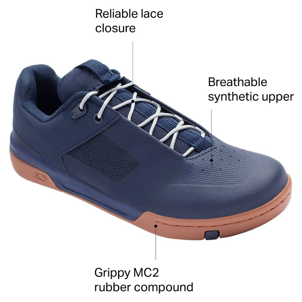 Crank Brothers Stamp Lace Men's Flat Shoe, Navy/Silver/Gum