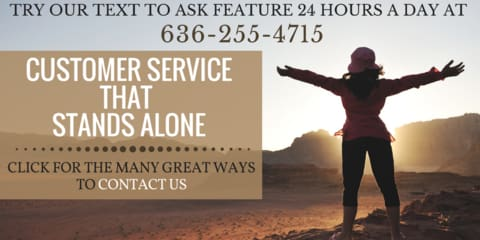 REAL PEOPLE REAL CUSTOMER SERVICE....GIVE US A RING!