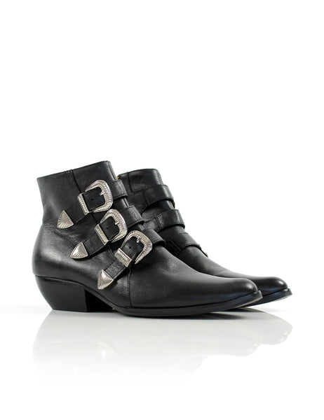 Buckle Boot Black/Silver