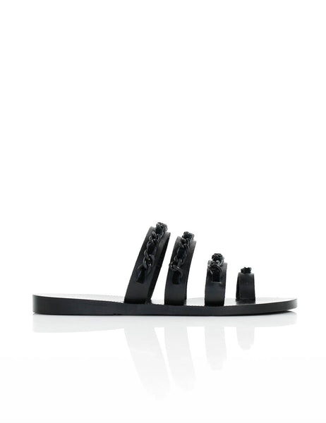 Chain Sandal Black