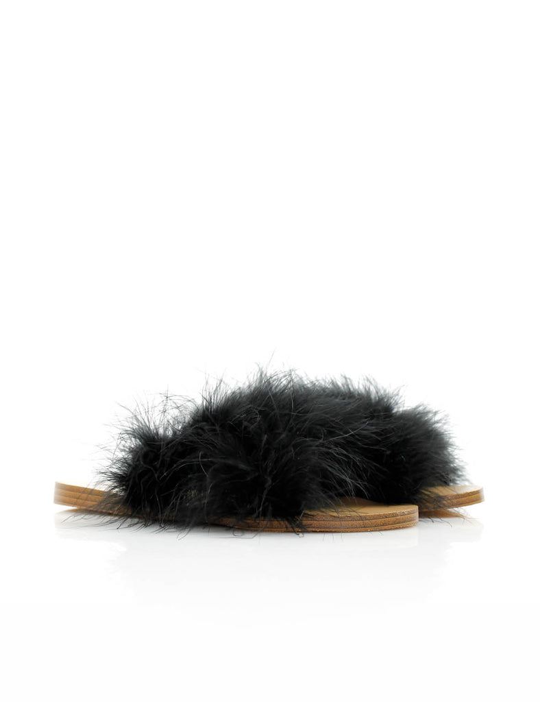 Fluffy Slide Black