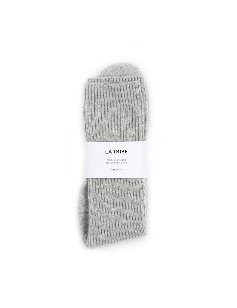 Cashmere Bed Sock Grey Marle