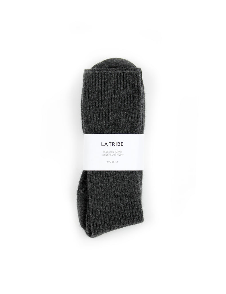 Cashmere Bed Sock Charcoal