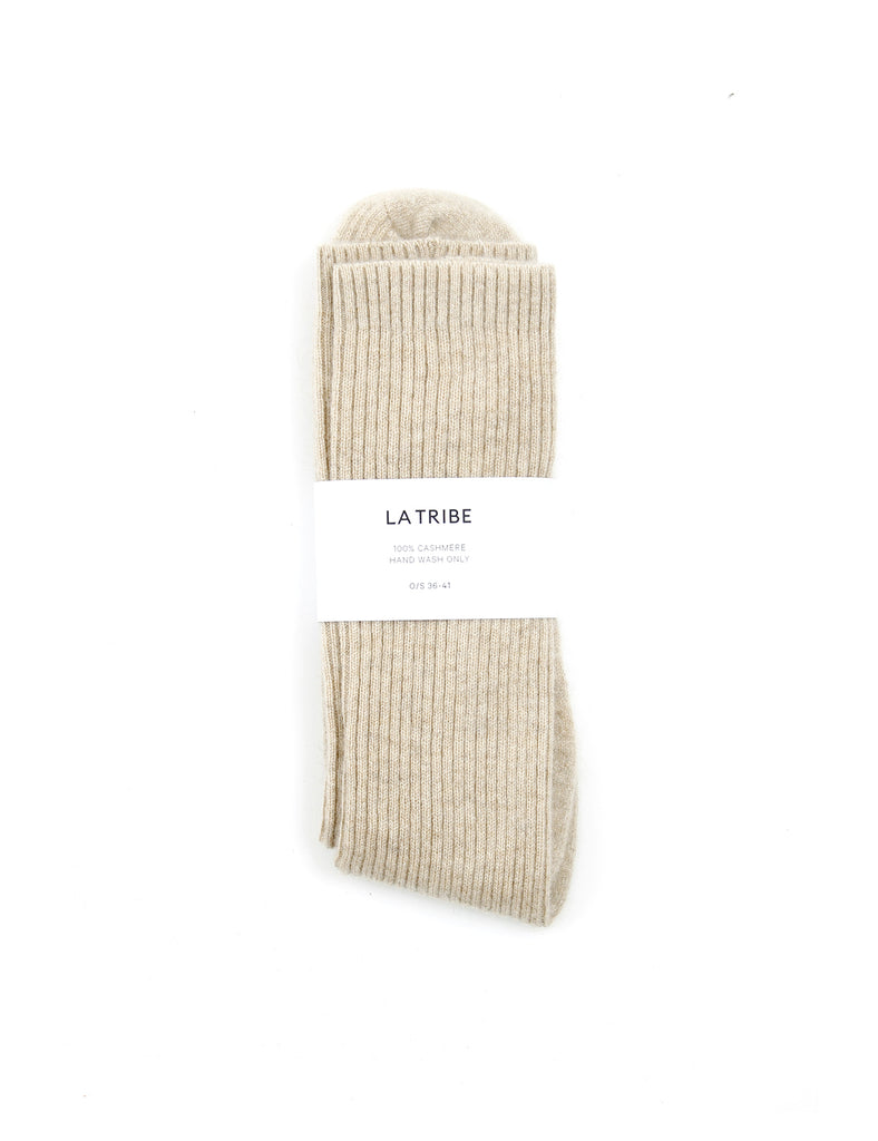 Cashmere Bed Sock Oat