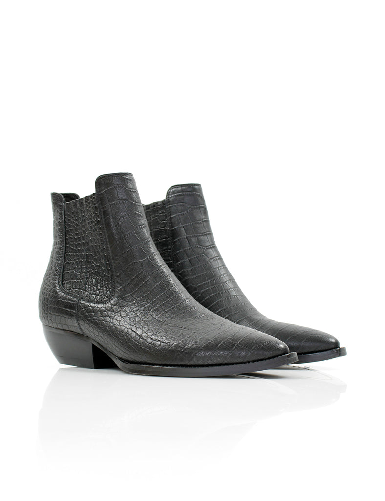 Dylan Boot Croc Black