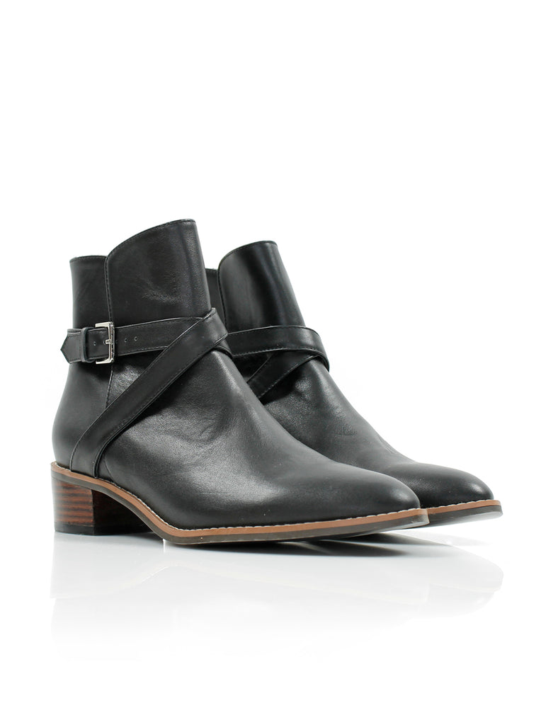 Faye Wrap Boot Black