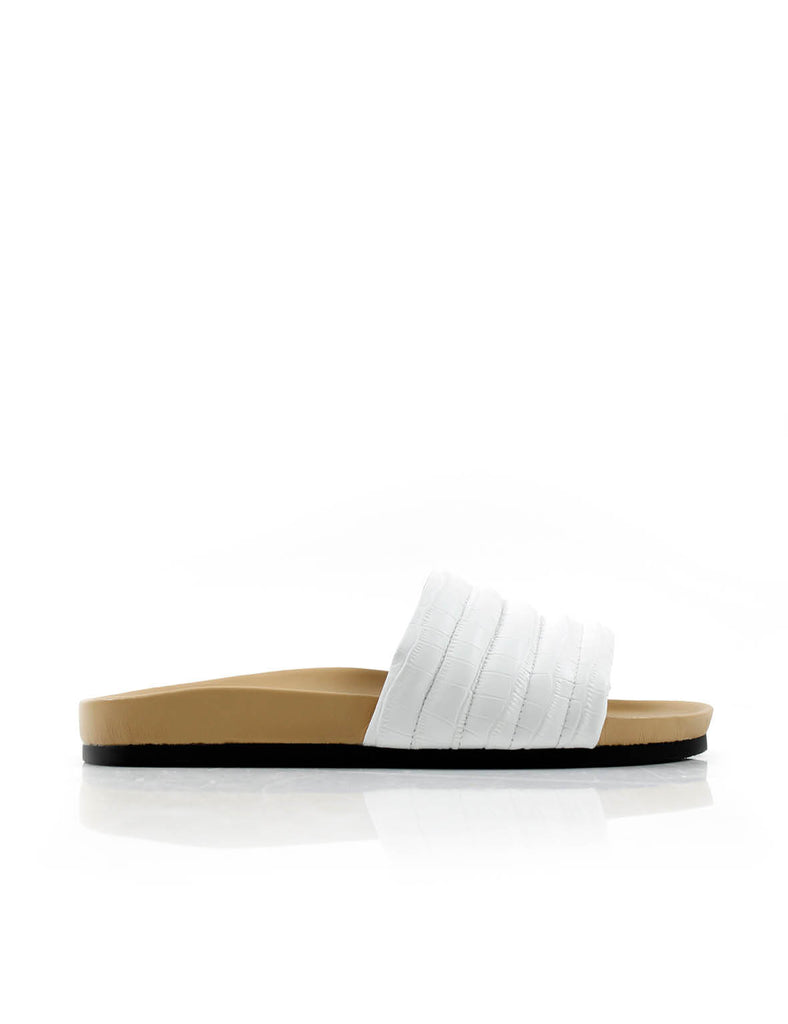 Pool Slide White Croc (Limited Edition)