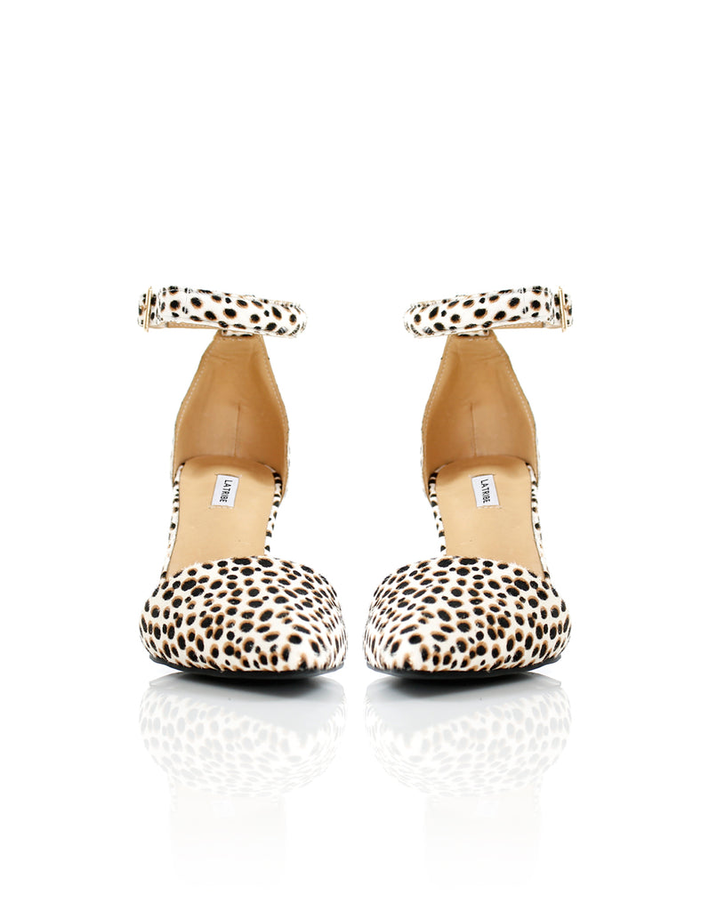 Penny Heel Animal White