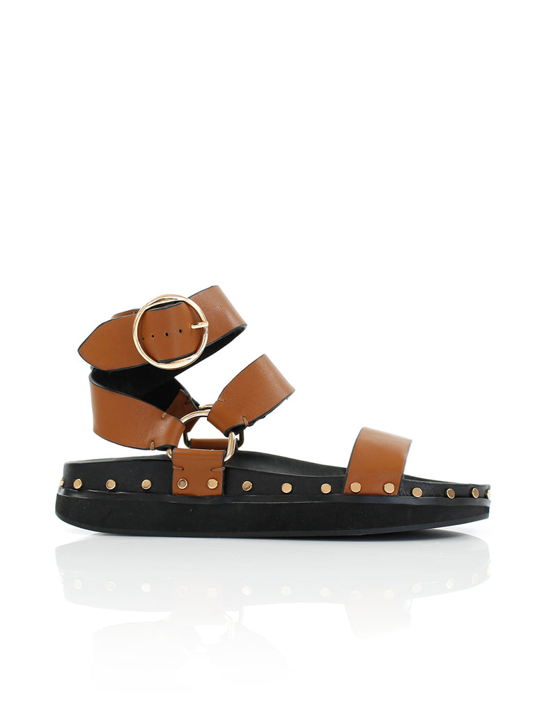 STUDDED SANDAL TAN