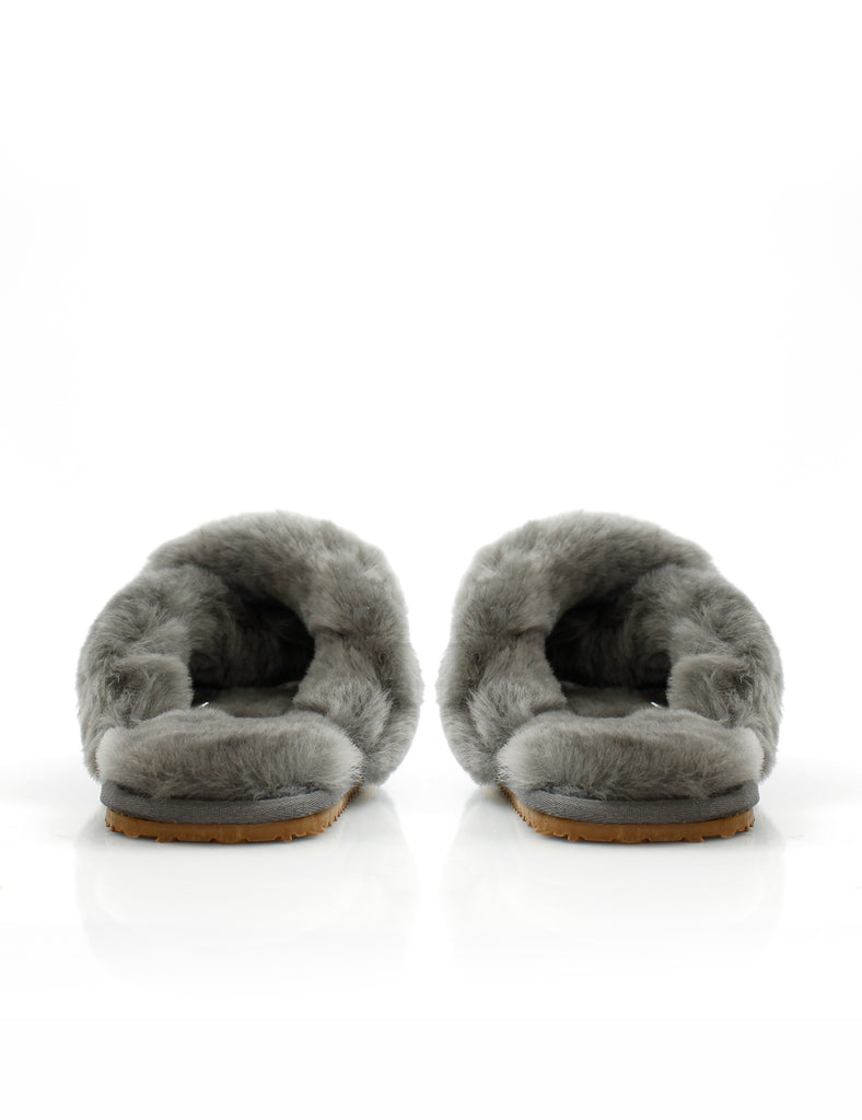 Crossover Sheepy Slipper Charcoal