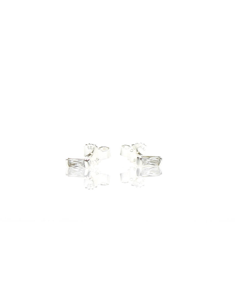 Mini Stud Silver/White