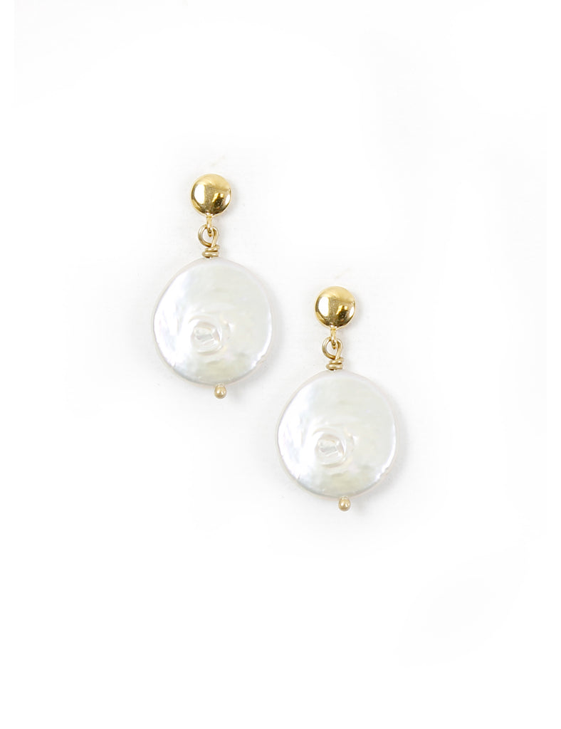 Baroque Button Pearl Gold