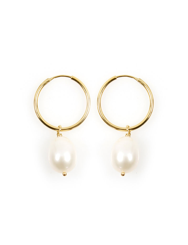 Pearl Tear Drop Gold