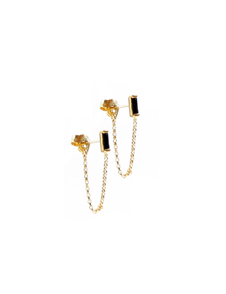 Mini Stud Chain Gold/Black