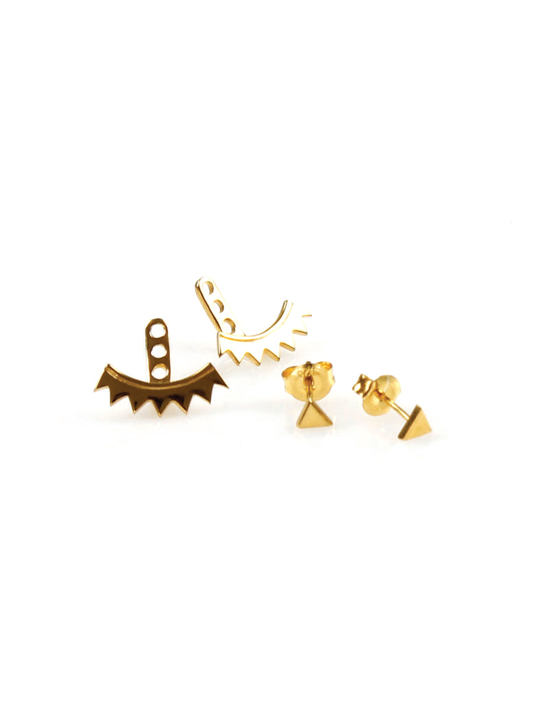 Triangle Ear Jacket Gold