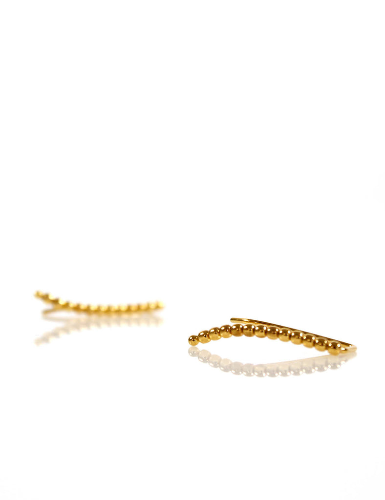 Beaded Ear Pin Gold