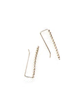 Beaded Ear Pin Silver