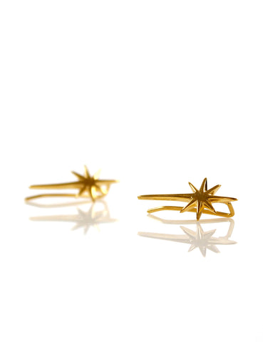 Tiny Star Ear Jacket Gold
