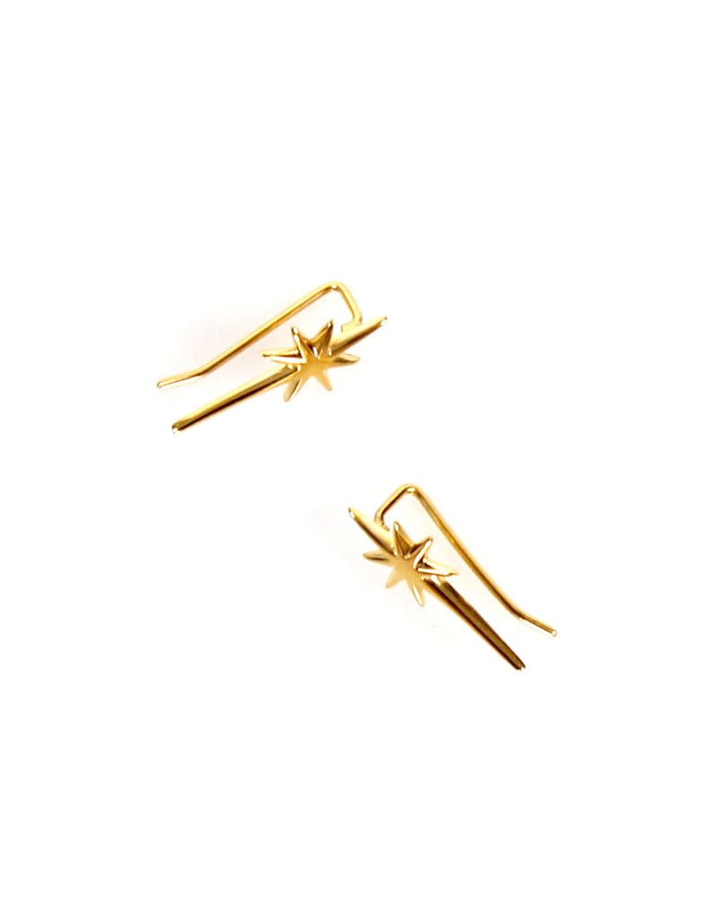 Falling Star Ear Bar Gold