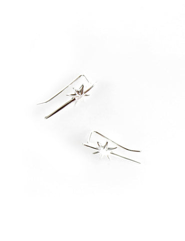 Falling Star Ear Bar Silver