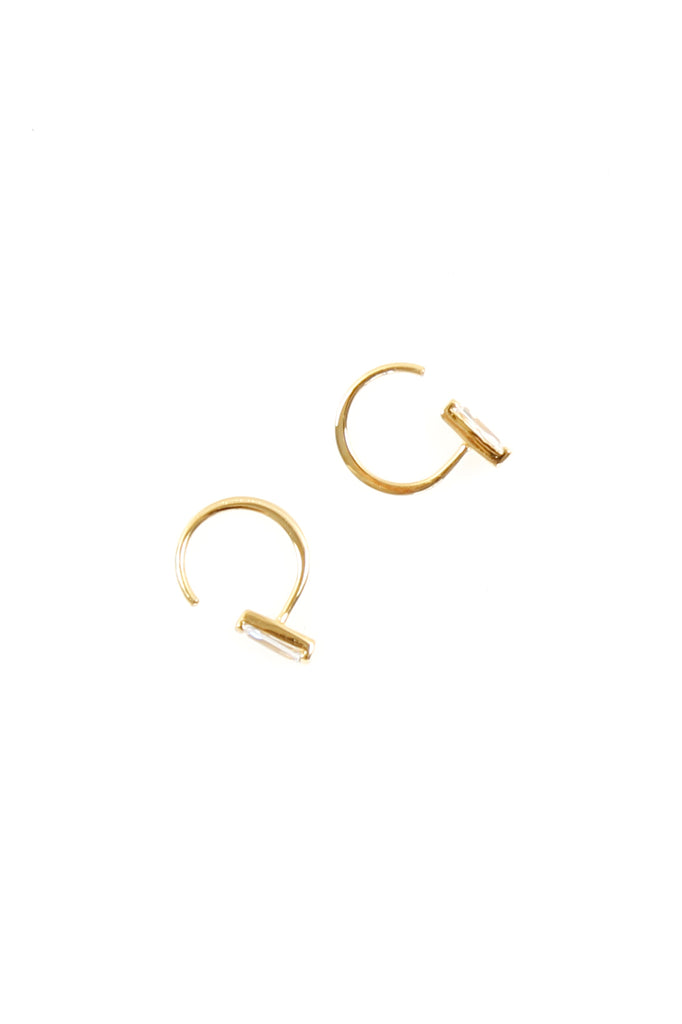 Mini Hoop Gold/White