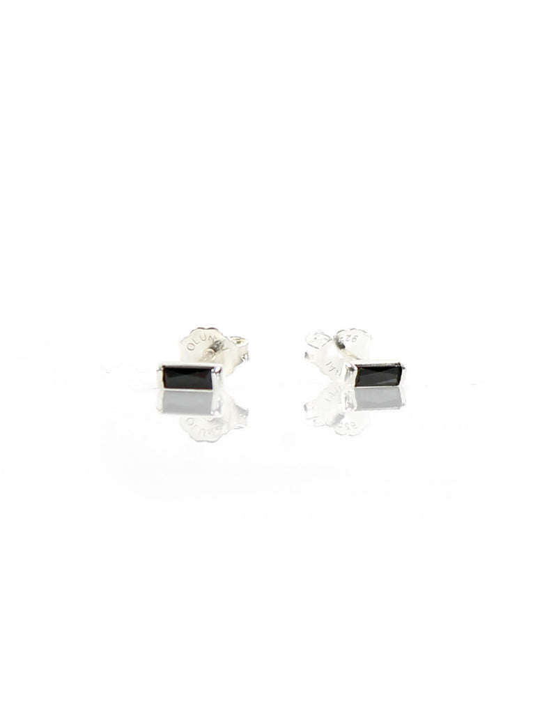 Mini Stud Silver/Black