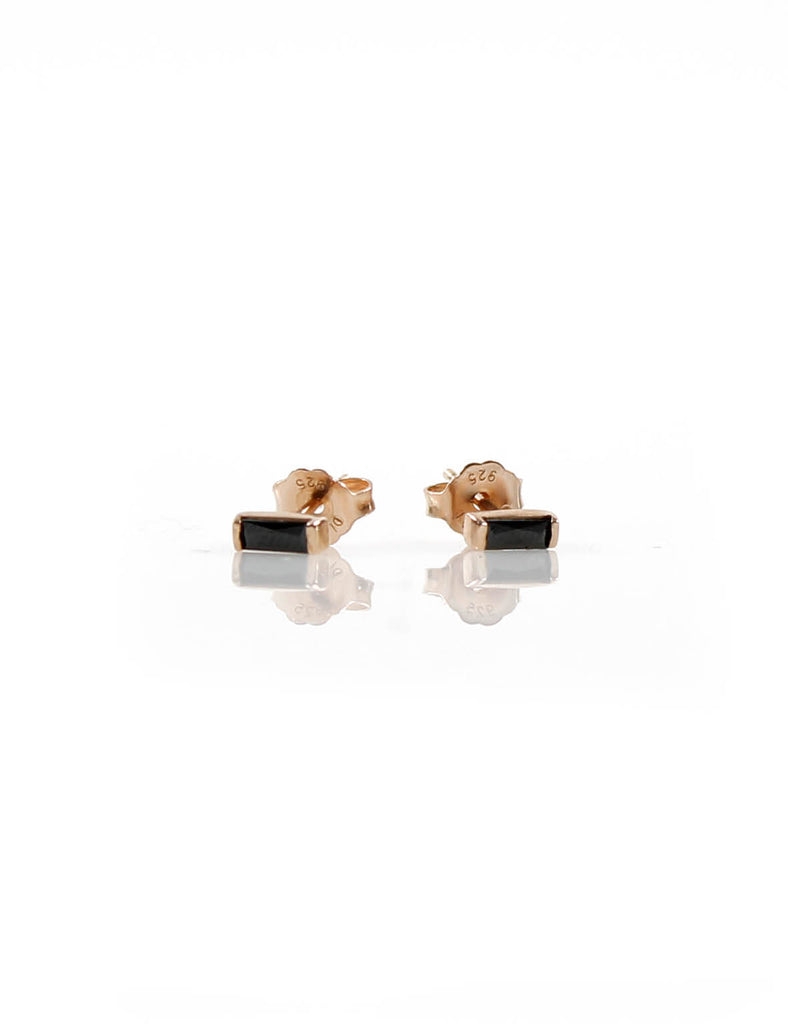 Mini Stud Rose Gold/Black
