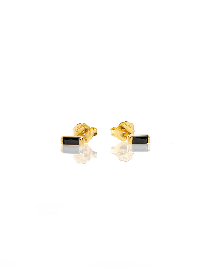 Mini Stud Gold/Black