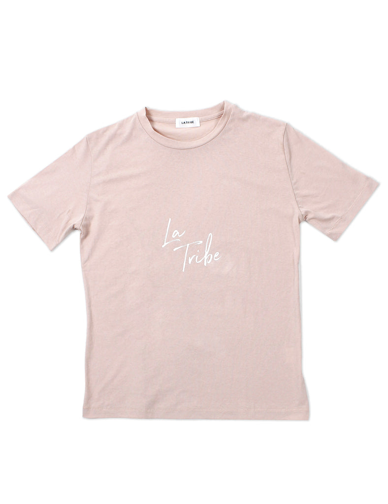 BRUSH LOGO TEE BLUSH