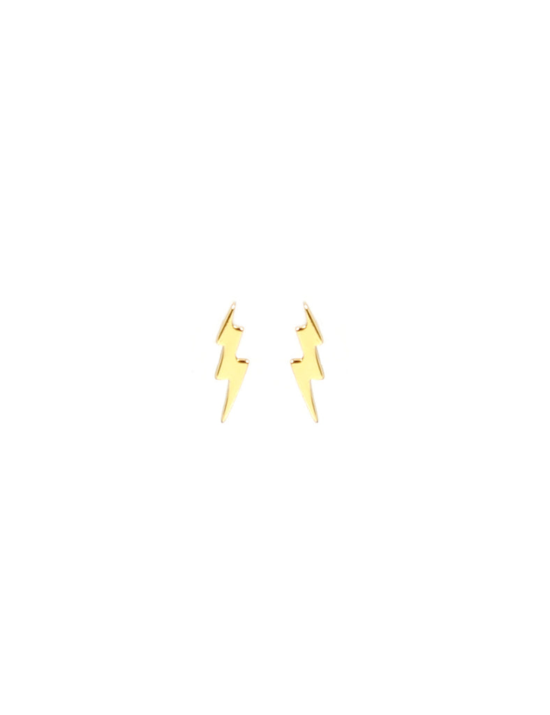 Tiny Thunderbolt Stud Gold