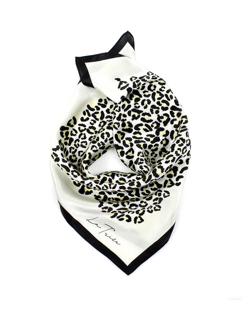 Silk Scarf Animal Cream