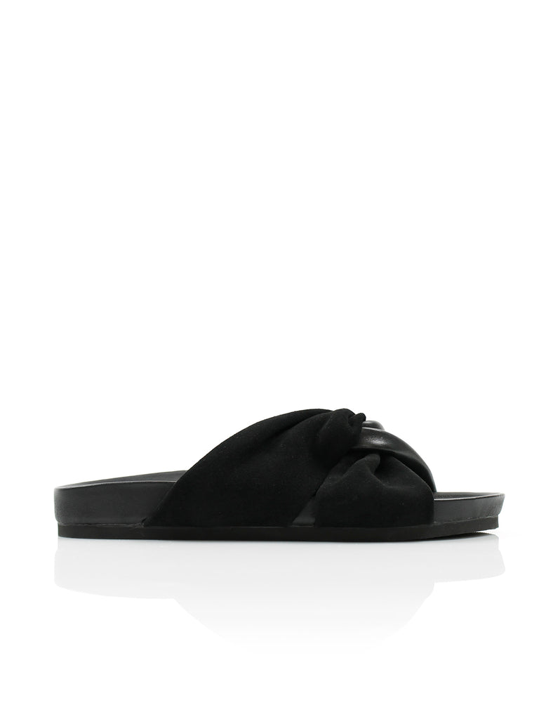 Twisted Moulded Slide Black