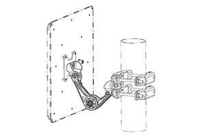 MK-WPGM-100-100-Outdoor, Wall/Pole Mounting Kit Outdoor, for 40¡ Antenna
