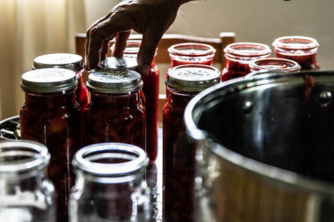 Preserving plums, Odgers and McClelland Exchange Stores