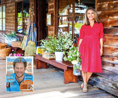 Australian Women's Weekly story 'Country connections' on Odgers and McClelland Exchange Stores, Local is Lovely, White Gum Wool, and Tamsin's Table